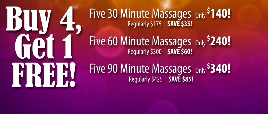 Pueblo Massage Buy 4 Get 1 Free